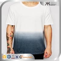 2015 Fashion boy contrast design cotton plain t-shirts wholesale