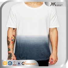 2015 Fashion boy contrast design cotton plain t-shirts wholesale