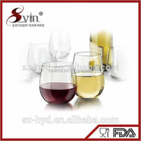 NT-CUP01 portable wine glass unbreakable tritan bpa and lead free stemless wine glass