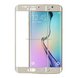Tempered glass full Screen Cover For Samsung galaxy s6 edge 3D Curved Tempered glass screen protector