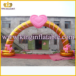 wedding inflatable arch custom inflatable gold wedding arch