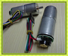 25mm gearbox 4mm diameter shaft mini high torque 12vdc geared motor with hall sensor encoder
