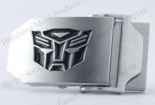 Custom made logo metal canvas belt buckle
