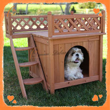 Practical China large outdoor wooden dog houses for sale