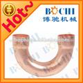 180 grado codo de cobre accesorios de instalación de tuberías