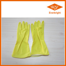 Yellow / Red / Pink / Blue Flock lined / Unlined Latex Household Gloves