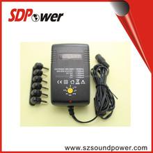 Universal voltage 3V /4.5V / 5 V/ 6 V/ 6.5V/7.5V/9V/12V 3V~12V 2A adapter with multi jacks/plugs