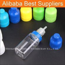 Stock Now!!! 10ml round plastic tamper bottles clear square bottle for e cigarette oil bottle