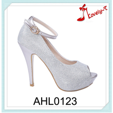 china alibaba guangdong factory wholesale women ankle strap peep toe crystal high heel pumps dress shoes