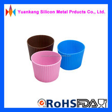 promotional soft and heat resistance silicone cup set /sleeve