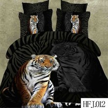 Reactive animal tiger print bedding set cheap king size 100% polyester bedding sets luxury 3d bedding set