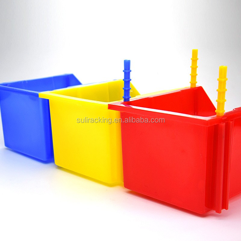 Large Stackable Plastic Parts Bins Strong Storage Tray Box Kbins