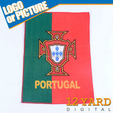 Portugal falg multifunction microfiber quick dyed summer cooling towel soccer/golf sport sweat towel