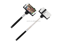 With Adjustable Phone Holder and Mirror Wireless Extendable Selfie Handheld Stick Built-in Bluetooth Remote Button Shutter