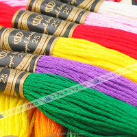 100% cotton embroidery threads cross stitch thread with DMC 447 colors