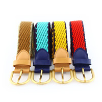 Colorful webbing canvas belts with pin buckle