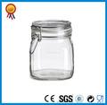 hermético claro clip de vidrio frasco