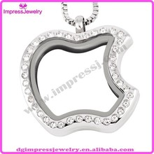 IJD6053 fashion apple shaped glass p endant necklace and picture frame