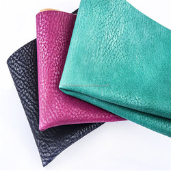 High quality and top grade litchi grain metallic pu synthetic leather for shoes ,decorative,garment