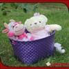 Wholesale cheap woven plastic dirty clothes basket