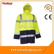 high tear fluorescent workwear winter jacket