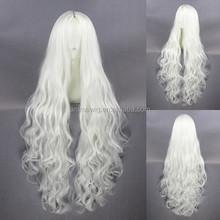 High Quality 100cm Long Wave Kozakura Shion Wig Cosplay White Synthetic Anime Wig Cosplay Hair Wig