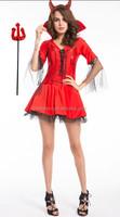 hot sales halloween costume devils fancy dress costume wit fork