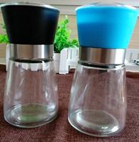 120g glass pepper grinder bottle,spiced salt grinder jar