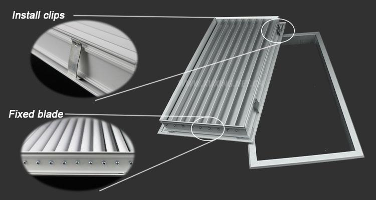 Wholesale air vent shutter aluminum screen door for Grille de ventilation murale