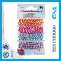colored decorative cotton rope 1 mm baker's twine , colorful single ply twisted cotton rope , 3 strand cotton rope