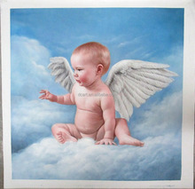 Baby portrait 100% handmade oil painting