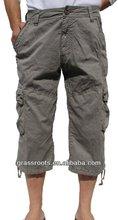 "DK-010 Factory Wholesale High Quality Men's Military-Style Solid Cargo 19"" Capri Short Pant"