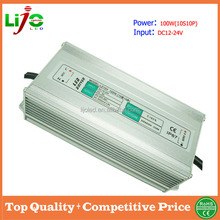 dc12-24V 100w 3000ma waterproof ip67 led driver for solar energy led light power supply free sample worldwide