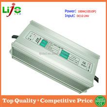 dc12-24V input 100w 3000ma waterproof ip67 led driver for solar energy led light power supply free sample worldwide