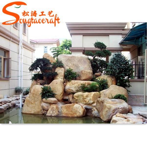 Moules pour pierre artificielle en fiber de verre piscines - Rocher decoratif pour jardin ...