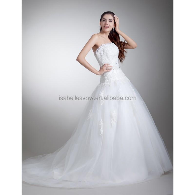 Wedding Dresses Wholesale : China wholesale rhinestone lace wedding dresses with puffy tulle