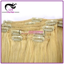 Double Drawn Black Hair Top AAAAA 100% Remy Human hair extension clip in hair extensions