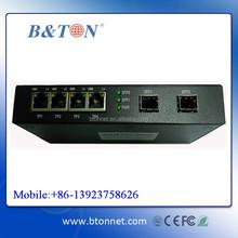 10/100/1000M 2 SFP+ 4 RJ45 ports Fiber Optic Media Converter