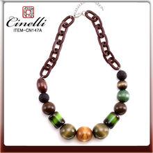 hip hop collier de perles en bois