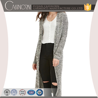 new arrival open-front no button knit sweater ladies fancy long cardigan