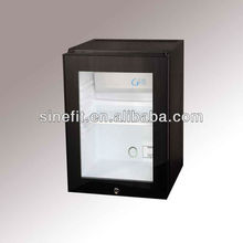 XC-30BA wholesale 30litre Absorption glass door no noise cheap hotel mini refrigerator