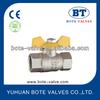 BT1017 aluminum butterfly handle Brass gas ball valve , brass water ball valve