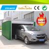 high strength steel ow cost prefabricated garage with side door