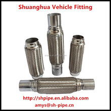 auto stainless steel flexible exhaust pipe with joints/nipples, manufacturing high quality auto exhaust system
