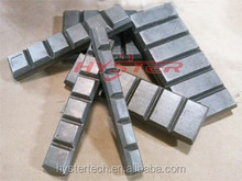 competitive price high quality 63HRC white iron chockyblock, earthmoving excavator bucket Wear Parts , bucket attachment