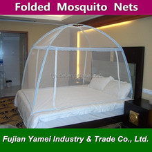 Bag loaded portable folding yurt door nets /pop up folding mosquito net