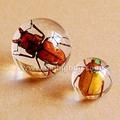 decorativos de cristal de cuarzo esferas bola con las flores de verdadincrustado para los regalos promocionales