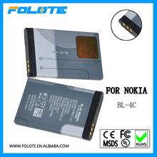 bl-4c 3.7v 800mah mobile phone battery for nokia