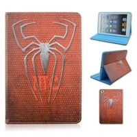Spider Flip TPU+PU Leather Case For Apple iPad 2/3/4,Cartoon Folio Stand PU Cover For iPad air 1/2, For ipad mini 1/2/3