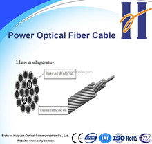 OPGW-composite overhead ground wire with 12/24/48F G.652D fiber optical cable